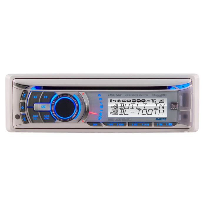 Dual Audio AMB600W Marine AM/FM/CD Receiver