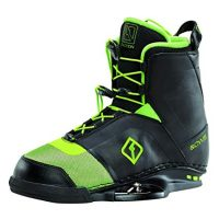 Black and green CWB Faction Wakeboard Boots