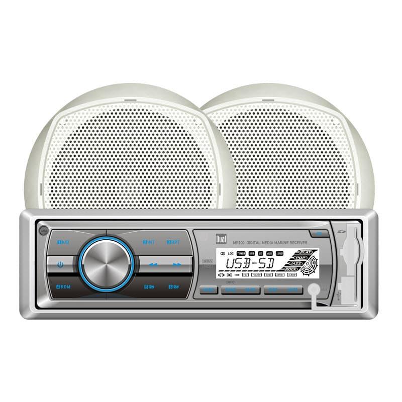 Dual Audio MCP100 Marine Stereo Package