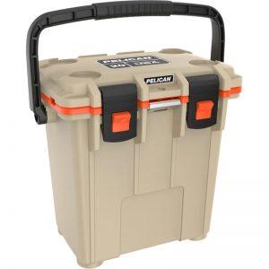 pelican-tan-20qt-camping-cooler-elite