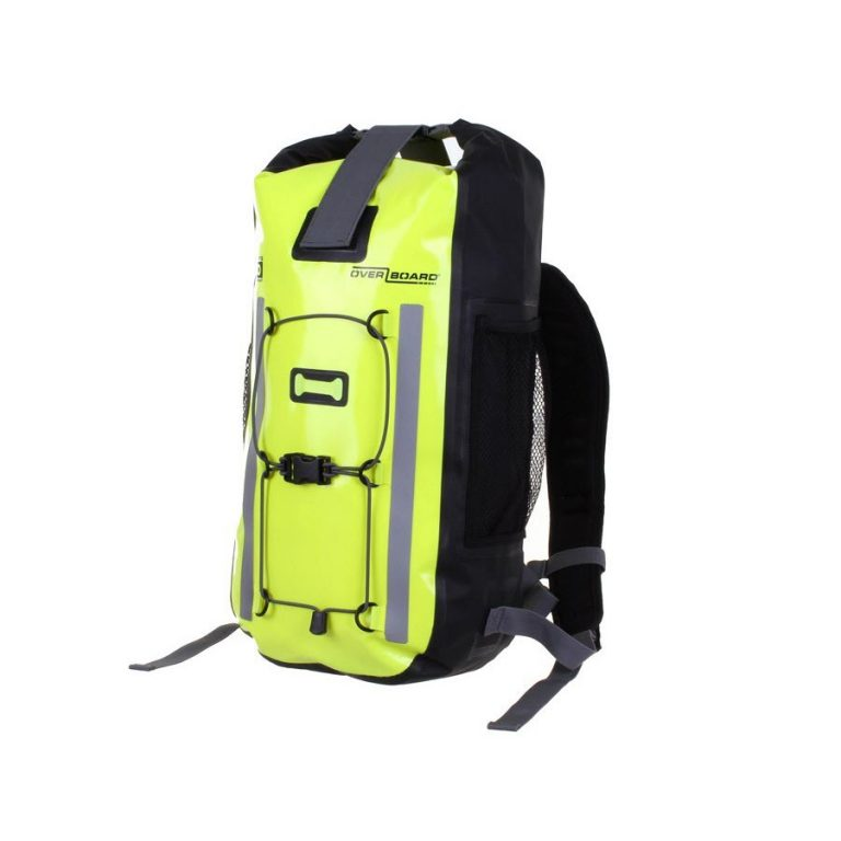 Yellow Overboard OB1157 Pro-Vis Waterproof Backpack-20 Litres