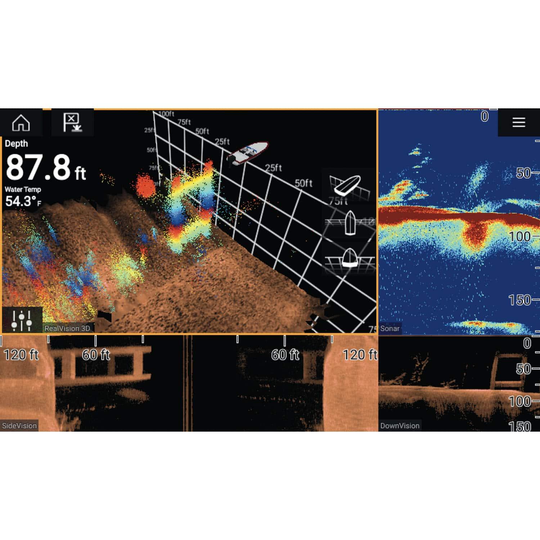 Raymarine Axiom Pro 12 RVX with RealVision 3D 1kw Sonar and Canada & US  Navionics Charts