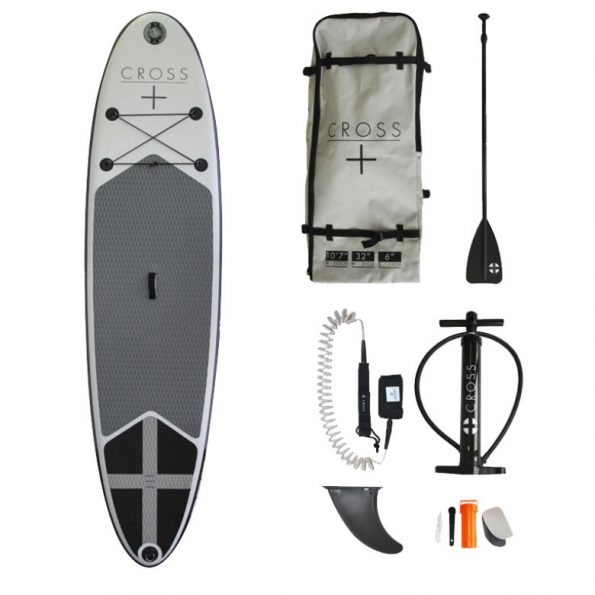 """Are you looking for an inflatable paddle board for sale? Cross 10'7"""" inflatable paddleboard (SUP) kit is available to buy from Poco Marine. Order today!"""
