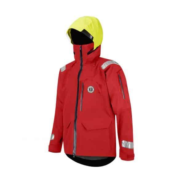 red sailing jacket